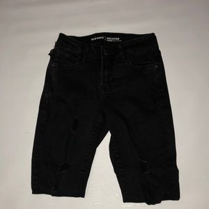 "Old navy ""rockstar"" destroyed denim capris"